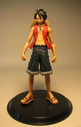 One Piece Banpresto Grandline Men Vol 1  Luffy 6 inch Banpresto, One Piece, Anime Figures, 2009, anime, japan