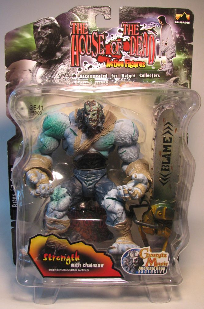 Palisades House of the Dead Strength w Chainsaw variant Palisades, House of the Dead, Action Figures, 2000, horror, halloween, video game