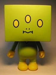 To-Fu 7.5 inch vinyl  - green 3-eyed alien China, To-Fu, Action Figures, 2008, vinyl, japan