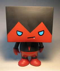 To-Fu 7.5 inch vinyl  - red+black vampire China, To-Fu, Action Figures, 2008, vinyl, japan