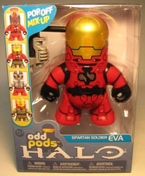 McFarlane Halo Odd Pods - Spartan Soldier EVA (red) McFarlane, Halo, Action Figures, 2009, scifi, video game