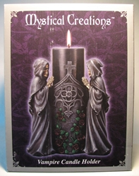 Mystical Creations - Vampire Skeletons w Candle Column Mystical Creations, Vampire Skeletons, Statues, 2010, vampires