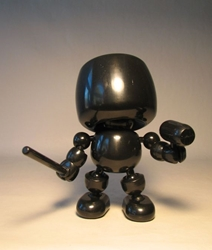 Shocker Toys 5 inch Mallows  - Blank (all black) Shocker Toys, Mallows, Action Figures, 2009, superhero, girls, comic book