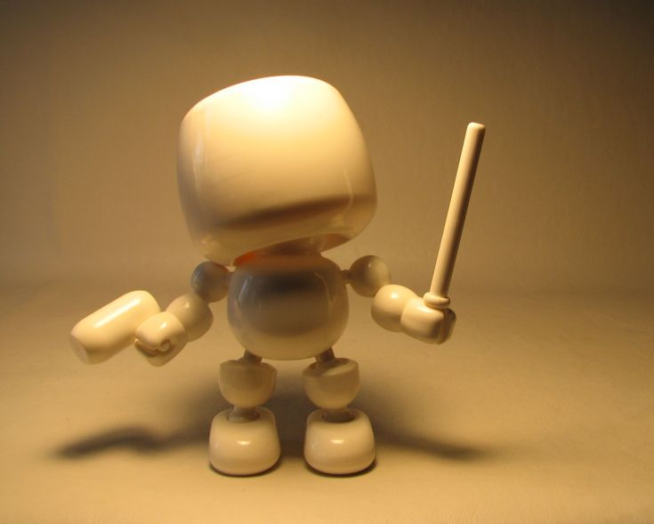 Shocker Toys 5 inch Mallows  - Blank (all white) Shocker Toys, Mallows, Action Figures, 2009, superhero, girls, comic book