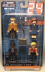 Diamond Minimates 24 Jack + Kim + David Palmer + Nina Diamond Select, 24, Action Figures, 2009, action, tv show