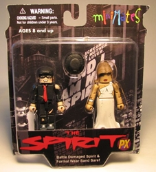 Diamond Minimates The Spirit 2-pack Spirit + Sand Saref Diamond Select, The Spirit, Action Figures, 2009, crime, comic book