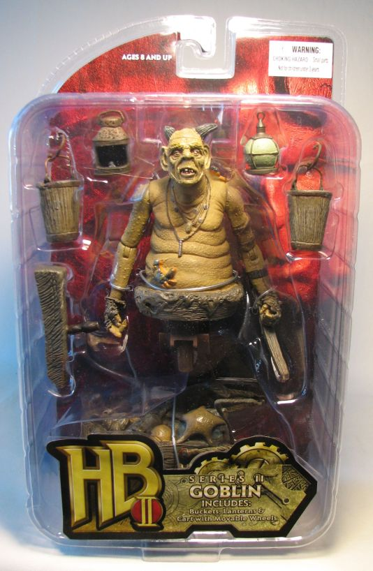 Mezco Hellboy II Legless Goblin with Cart Mezco, Hellboy, Action Figures, 2008, scifi, fantasy, movie