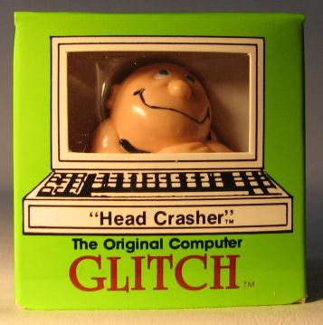 Computer Glitch 2 inch figure 1989 - Head Crasher Glitch Associates, Computer Glitch, Action Figures, 1989, teen