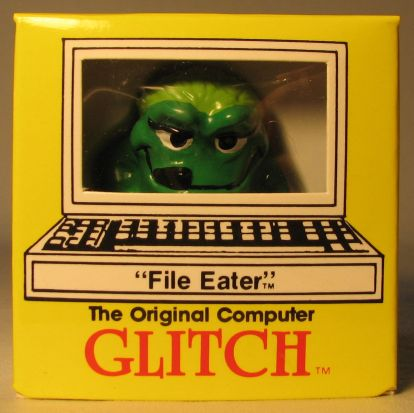 Computer Glitch 2 inch figure 1989 - File Eater  Glitch Associates, Computer Glitch, Action Figures, 1989, teen