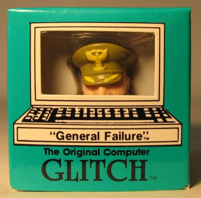 Computer Glitch 2 inch figure 1989 - General Failure Glitch Associates, Computer Glitch, Action Figures, 1989, teen
