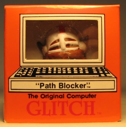 Computer Glitch 2 inch figure 1989 - Path Blocker Glitch Associates, Computer Glitch, Action Figures, 1989, teen