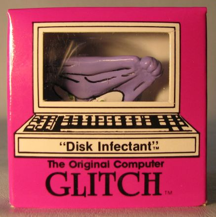 Computer Glitch 2 inch figure 1989 - Disk Infectant Glitch Associates, Computer Glitch, Action Figures, 1989, teen