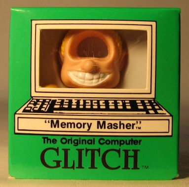 Computer Glitch 2 inch figure 1989 - Memory Masher  Glitch Associates, Computer Glitch, Action Figures, 1989, teen