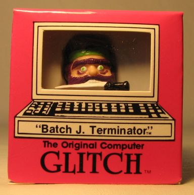 Computer Glitch 2 inch figure 1989 - Batch Terminator Glitch Associates, Computer Glitch, Action Figures, 1989, teen