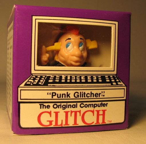 Computer Glitch 2 inch figure 1989 - Punk Glitcher Glitch Associates, Computer Glitch, Action Figures, 1989, teen