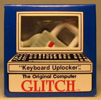 Computer Glitch 2 inch figure 1989 - Keyboard Uplocker Glitch Associates, Computer Glitch, Action Figures, 1989, teen