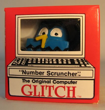 Computer Glitch 2 inch figure 1989 - Number Scruncher Glitch Associates, Computer Glitch, Action Figures, 1989, teen