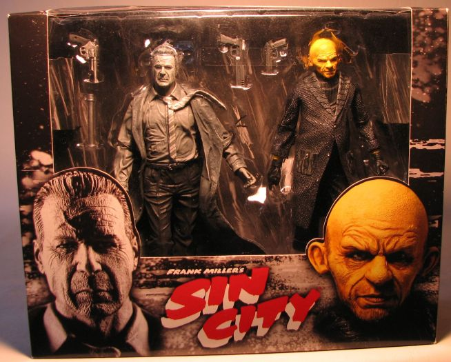 NECA Sin City Boxed set Hartigan + Yellow Bastard  RARE NECA, Sin City, Action Figures, 2005, crime, comic book
