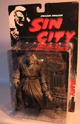 McFarlane Sin City Marv BW (comic book version) McFarlane, Sin City, Action Figures, 1999, crime, comic book