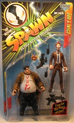 McFarlane Spawn 07 Sam + Twitch 2-pack (detectives) 96 McFarlane, Spawn, Action Figures, 1996, superhero, comic book