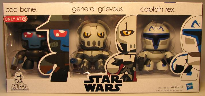 Mighty Muggs 3 inch Star Wars  Bane + Grievous + Rex Hasbro, Star Wars, Action Figures, 2009, scifi, movie