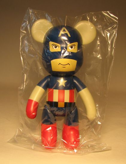 Popobe 5 inch Vinyl Captain A-Bear-ica  Popobe, Marvel, Action Figures, 2010, superhero, comic book