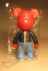 Popobe 5 inch Vinyl Red Hot Bear in Denim Popobe, Popobe Bear, Action Figures, 2010, vinyl