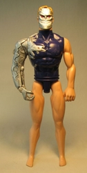 Mattel 1998 Max Steel Psycho 12 inch doll USED NAKED Mattel, Terminator, Action Figures, 1998, scifi, movie