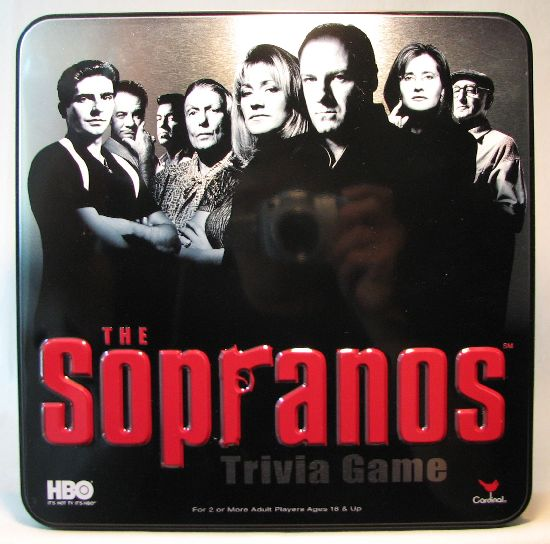 HBO The Sopranos - Trivia Game in Tin box USED