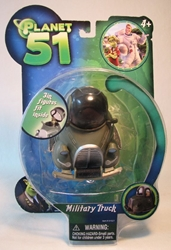 Planet 51 Military Truck 3 inch (bubble reattached) Jazwares, Planet 51, Action Figures, 2009, animated, movie