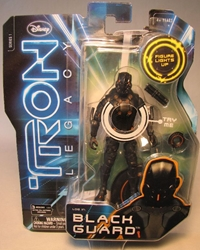 Tron Legacy - 4 inch Light Up Black Guard  figure Spin Master, Tron, Action Figures, 2010, scifi, movie