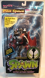 McFarlane Spawn 2  Pilot Spawn (black) CRUNCH McFarlane, Spawn, Action Figures, 1995, superhero, comic book