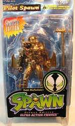 McFarlane Spawn 2  Pilot Spawn (gold) McFarlane, Spawn, Action Figures, 1996, superhero, comic book