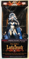 Moore Chaos Royal Lady Death 12 inch Preview Excl Moore Action Collectibles, Chaos! Comics, Action Figures, 1998, horror, halloween, comic book