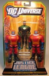 Justice League - 3-pack: GLantern + 2 Manhunter Robots Mattel, Justice League, Action Figures, 2009, superhero, comic book