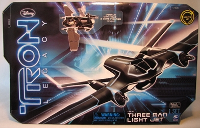 Tron Legacy - Three Man Light Jet (holds 4 inch figs) Spin Master, Tron, Action Figures, 2010, scifi, movie