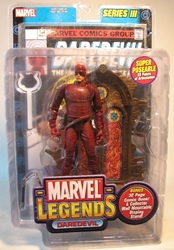 Marvel Legends Series III (red)  Daredevil w comicbook Toy Biz, Marvel, Action Figures, 2007, superhero, comic book