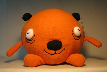 Gus Fink`s Puff Dogs 10 inch plush - Yuki (orange) Gus Fink, Puff Dogs, Plush, 2008, kidfare, design