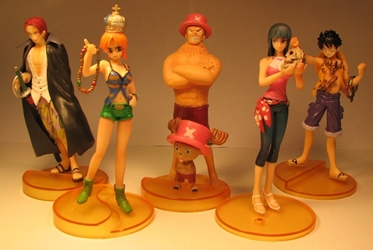 One Piece Bandai Styling Treasure Gate Set of 5 Bandai, One Piece, Anime Figures, 2008, anime, japan