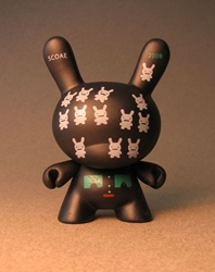 Cute 3 inch Bunny - Bunnoids (black) China, Cute Bunny, Anime Figures, 2008, vinyl