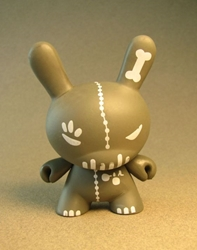 Cute 3 inch Bunny - Colonel Bone (light grey) China, Cute Bunny, Anime Figures, 2008, vinyl