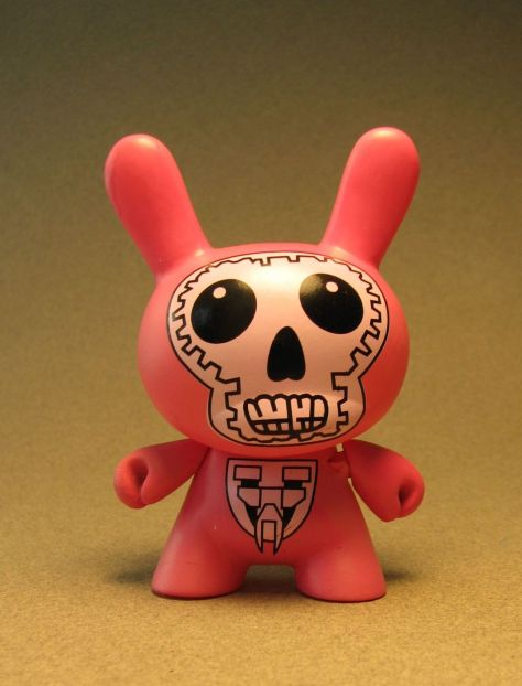 Cute 3 inch Bunny - Skull Face (pink) China, Cute Bunny, Anime Figures, 2008, vinyl