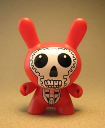 Cute 3 inch Bunny - Skull Face (red) China, Cute Bunny, Anime Figures, 2008, vinyl