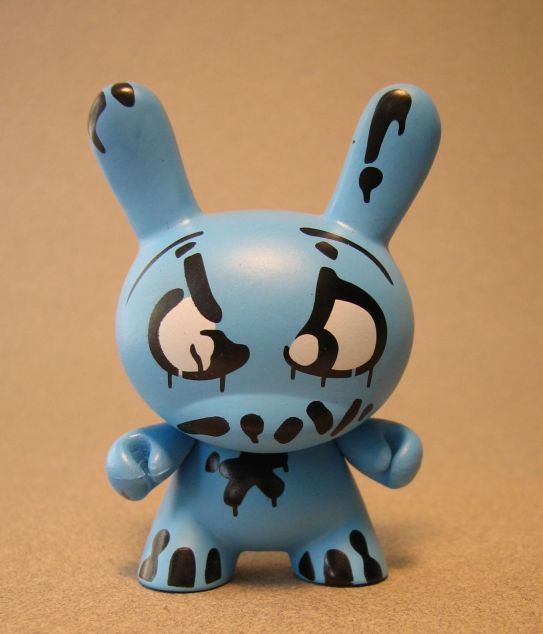 Cute 3 inch Bunny - Mad (blue) China, Cute Bunny, Anime Figures, 2008, vinyl