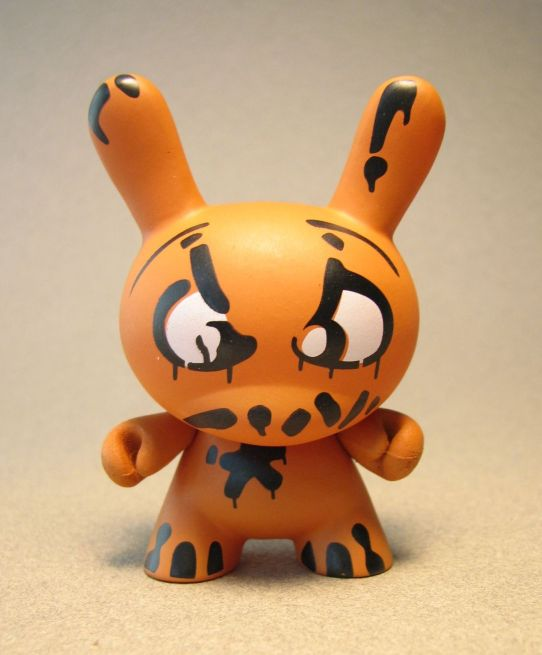 Cute 3 inch Bunny - Mad (orange) China, Cute Bunny, Anime Figures, 2008, vinyl