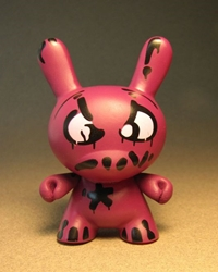 Cute 3 inch Bunny - Mad (Burgundy) China, Cute Bunny, Anime Figures, 2008, vinyl