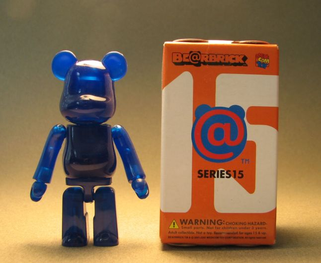 Medicom Be@rbrick Series 15 - Jellybean: Dark Blue Medicom, Be@rbrick, Action Figures, 2007, collectible