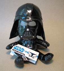 Star Wars 8 inch Darth Vader Soft Toy (2009 tag) Hasbro, Star Wars, Action Figures, 2009, scifi, movie