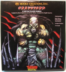 Moore Creations MIB Cold-cast 1/6 Graveyard Statue Moore Creations, Thumpn Guts, Statues, 1999, horror, halloween, comic book
