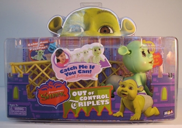 Shrek Baby and Playpen Set MIB - So Cute! MGA, Shrek, Action Figures, 2007, fantasy, movie
